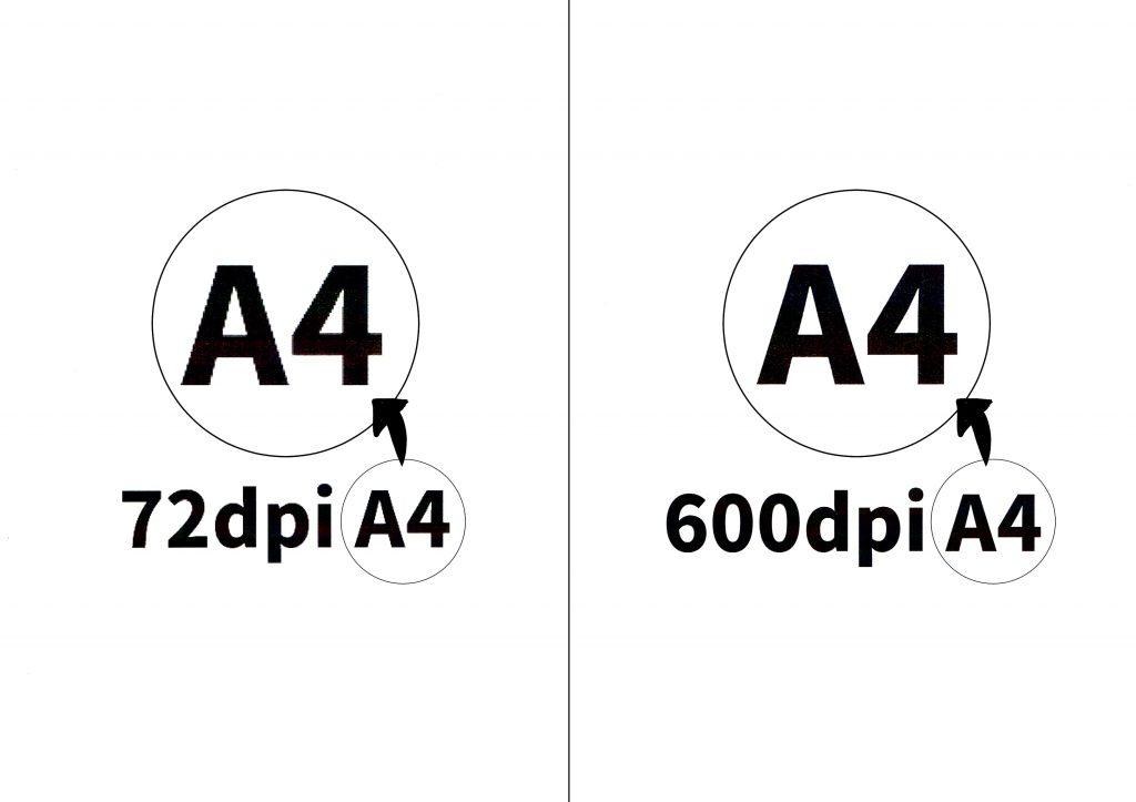 解像度(dpi)の比較